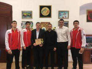 Чествование победителей Первенства России по гандболу
